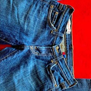 Red engines jeans